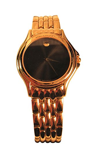 Movado Men's Classic Gold Metal Link Design Wristwatch, #87-D1-863, Serial 8087359, 1993