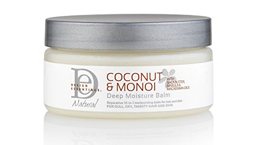 Design Essentials Natural Deep Moisture Balm with Raw African Shea Butter for Head-to-Toe Insane Moisture-Coconut & Monoi Collection, 7.5oz