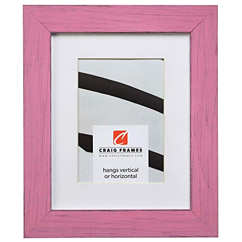 Craig Frames Jasper, 11 x 14 Inch Country Petticoat Pink Picture Frame Matted to Display an 8 x 10 Inch - Inch 10 Jasper