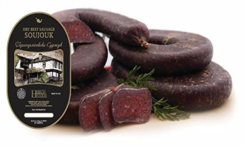 Dry Cured Beef Salami (Soudjouk) - 2 Pc (each piece is b/n 0.65 - 0.75 lb) by Hebros Foods