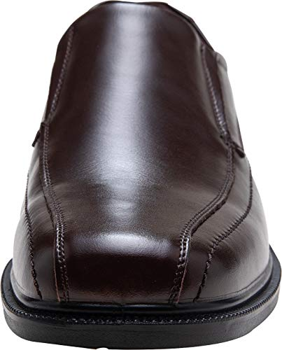 Pictures of JOUSEN Men's Loafers Leather Formal Square 7