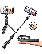 Bluetooth Selfie Stick Stativ Avaspot 3 in 1 Selfiestick mit drahtloser Fernauslöser und Handy Erweiterbarer Selfie Stange Stab 360°Rotation für iPhone X XS XR 8 7 Plus 6s Android Huawei Samsung