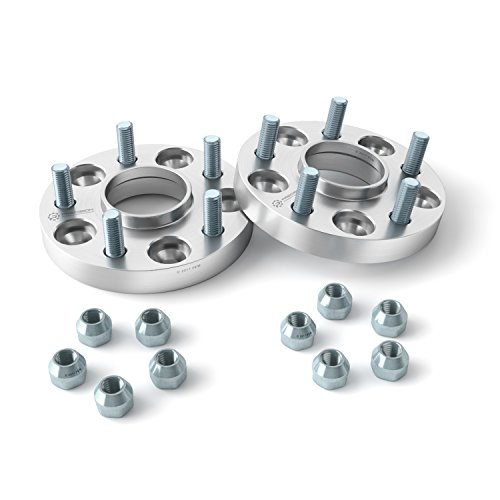 2pc 1'' HUBCENTRIC Wheel Adapters Spacers 5x4.25 to 5x4.5 (63.4mm Bore w/ 12x1.5 Studs) for Ford C-Max Focus Taurus Thunderbird Jaguar F-Type XJR XF XFR Lincoln MKZ & MORE - 5x108 to 5x114.3, 25mm by Precision European Motorwerks