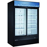 Saba Air SGDM-45RS Two 2 Glass Door Merchandiser Refrigerator Cooler Sliding Door