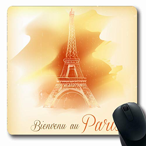 Ahawoso Mousepad Oblong 7.9x9.8 Inches Length Eiffel Paris Abstract Central France Tower Arch Attraction Monumental Mouse Pad Non-Slip Rubber for Notebook Laptop PC - Arch Monumental