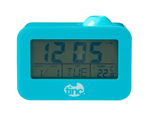 Tinc PROCLKBL Light up Projector Alarm Clock, Date, Temperature Display, Blue