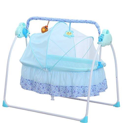 Review Electric Baby bassinet Swing,