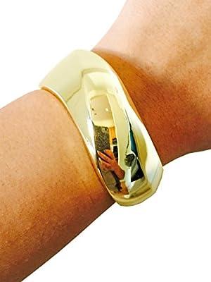 Fitbit Bracelet for Fitbit Flex or Flex 2 Fitness Activity Trackers - The JEANENE Gold or Silver Wavy Fitbit Bracelet