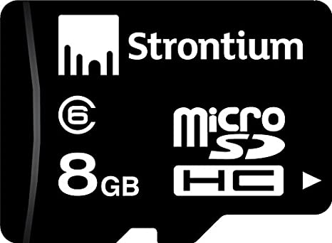 Strontium 8 GB MicroSDHC Class 6 Memory Card  SR8GTFC6R