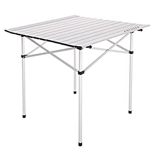 "ANCHEER Portable Camping Table, Lightweight Folding Picnic Table with Carrying Handle Two Height Setting 21.5""/ 9.8"""
