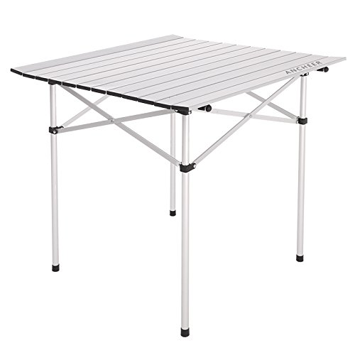 ANCHEER Lightweight Folding Portable Camping Table, Small Picnic Table with Carrying Bag for Outdoor