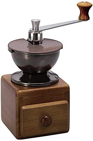DHINGM Hand Grinder, Retro Coffee Grinder, Pure Wooden Base with Drawers, Super Convenient, Easy to Operate, Easy to Clean, No Metal Odor, Avoid Heat and Influence The Taste, Compact and Practical