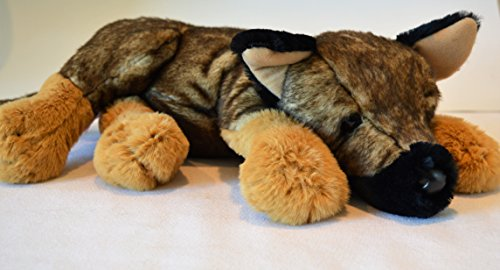 Reclining German Shepherd Puppy - Stuffed Animal Therapy for People with Memory Loss from Aging and Caregivers by Memorable Pets