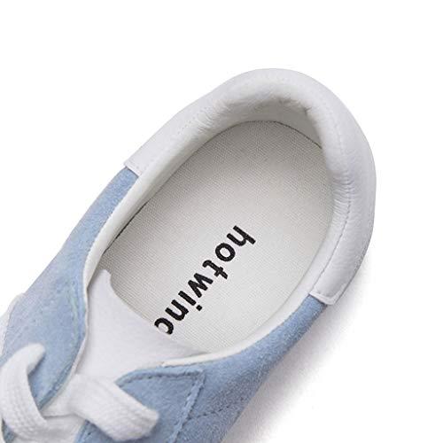 SHI Bas Plates Lacets Bas Bleu Baskets Casual Chaussures Chaussures À Mode De Bas Skateboard Femmes Respirant Bleu FTxqFH