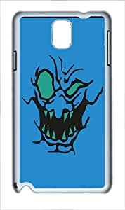 Samsung Galaxy Note 3 Case Cover - Whack Attack Blue Custom PC Case for Samsung Galaxy Note 3 / Note III/ N9000 White