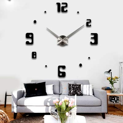 Wall Clocks - Fashion Wall Clock Living Room Modern Creative Decoration Cafe Personality Large Round Diy Mute - Purple Electric Sale Harley Square Patio Dark Steel Thermometer Nature