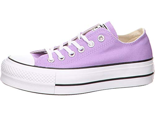 (Converse Women's Lift Canvas Low Top Sneaker (6.5 M US, Washed Lilac/Black/White))