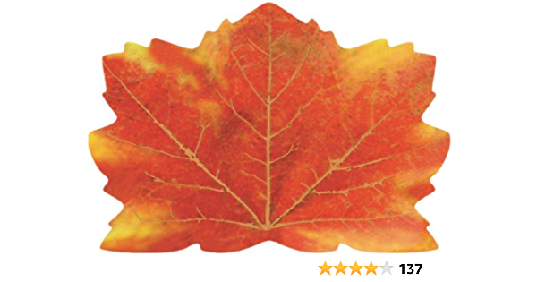 25 Count Maple Leaf Shaped Paper Placemats Fall Thanksgiving Place Mats Kitchen Dining Amazon Com