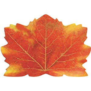 25-Count Maple-Leaf Shaped Paper Placemats, Fall Thanksgiving