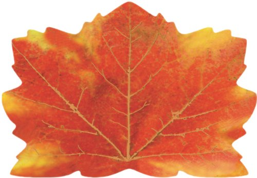 25-Count Maple-Leaf Shaped Paper Placemats, Fall Thanksgiving]()