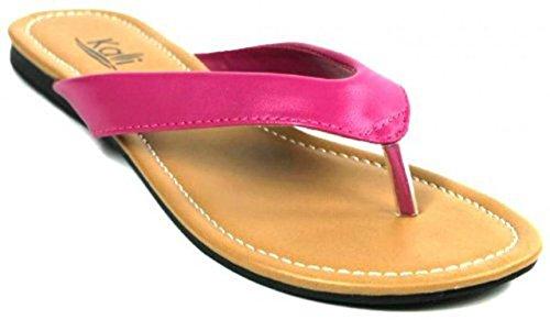 Kali Footwear Women's Cocoa Flat Thong Sandals Hot Pink, 8 (Flip Flops Sandals Pink)