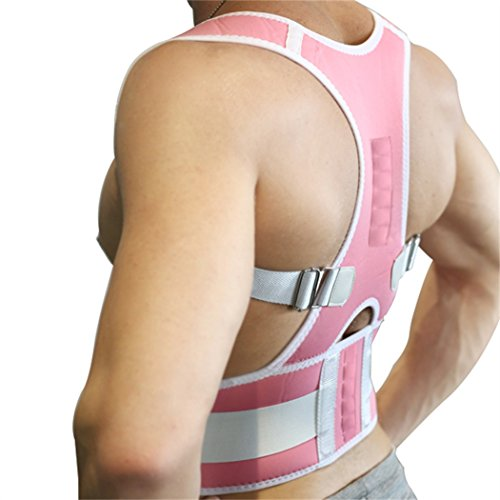10PCS Magnets Back Support Belt for Posture Correction and Back Pain Support - UNISEX by Aofit (XXL, Pink) by Aofit (Image #2)