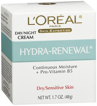 L'Oreal Dermo-Expertise Hydra-Renewal Continuous Moisture Cream Dry/Sensitive Skin 1.70 oz (Pack of - Hydra Moisture