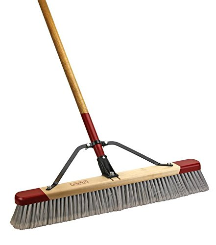 Harper Brush 2224A 24'' Fine Debris Push Broom With 60'' Handle (1)