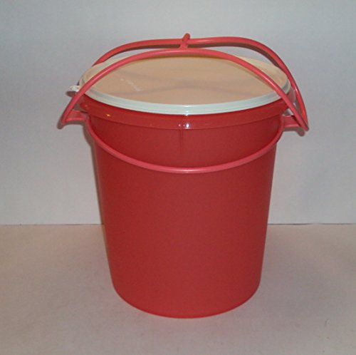 Tupperware 8 Quart Giant Canister with Handle Coral