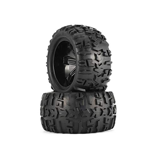 (GreensTion-S Monster Truck RC Tires 1/8 Scale RC Wheels 4 PCS 150mm RC Car Wheel Rim and Tires for 1/8 Monster Truck Traxxas HSP HPI E-MAXX Savage Flux Racing RC Car Accessories)