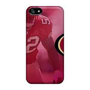 Anti-Scratch Hard Cell-phone Case For Iphone 5/5s (AQC17179eXAD) Support Personal Customs Stylish San Francisco 49ers Pattern