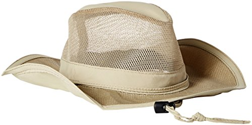 Dorfman Pacific Co. Men's Mesh Safari Hat, Khaki, (Dorfman Pacific Mesh Safari Hat)