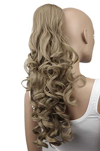 "PRETTYSHOP 24"" Hair Piece Ponytail Clip On Extension Long Voluminous Wavy Heat-Resisting Ash blonde # 16 H67"