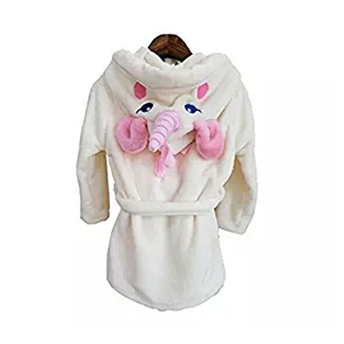 Kids Unicorn Dressing Gown Robe with Hooded Animal Bathrobes Xmas Gifts Costume - Childrens Dressing