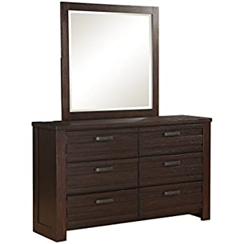 Amazon Com Coaster Dresser With Brushed Chrome Accents In