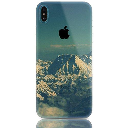 Sunroyal 3D TPU Funda iPhone X/iPhone10 5.8  Para Ligera y Delgada Silicona Suave Gel Funda Protectora Para Teléfono Móvil Casual Premium de Goma Antichoque Protector de La Piel Flexible Para el Cubi Diseño 12