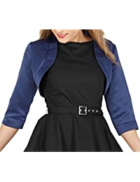 Satin Bolero Jacket - Half Sleeve