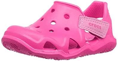 Crocs Unisex Kids Swiftwater Wave Shoe, Neon Magenta, J2