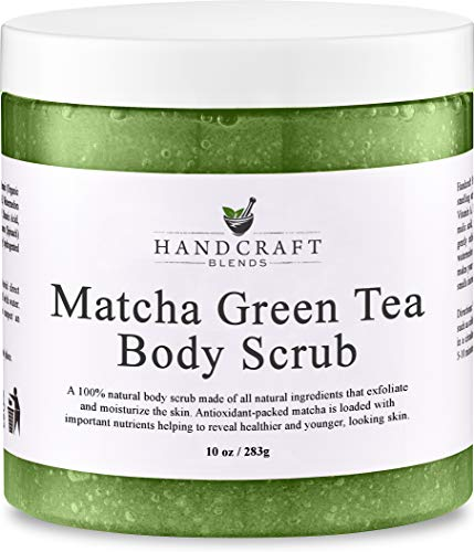 - Green Tea Body Scrub - 100% Natural - 10x The Amount Of Antioxidants As Regular Green Tea - A Deep Cleansing Body Scrub That Gently Exfoliates & Purifies Skin - 10 OZ