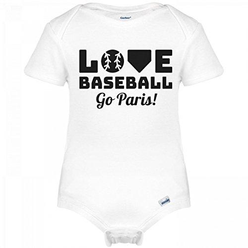 Love Baseball Go Paris!: Infant Gerber Onesies De Paris Pitcher