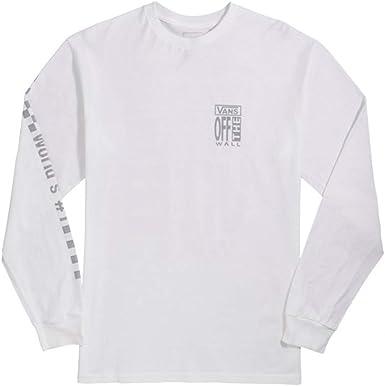 Vans Longsleeve Ave White - Camiseta para Hombre Bianco XL: Amazon.es: Ropa y accesorios