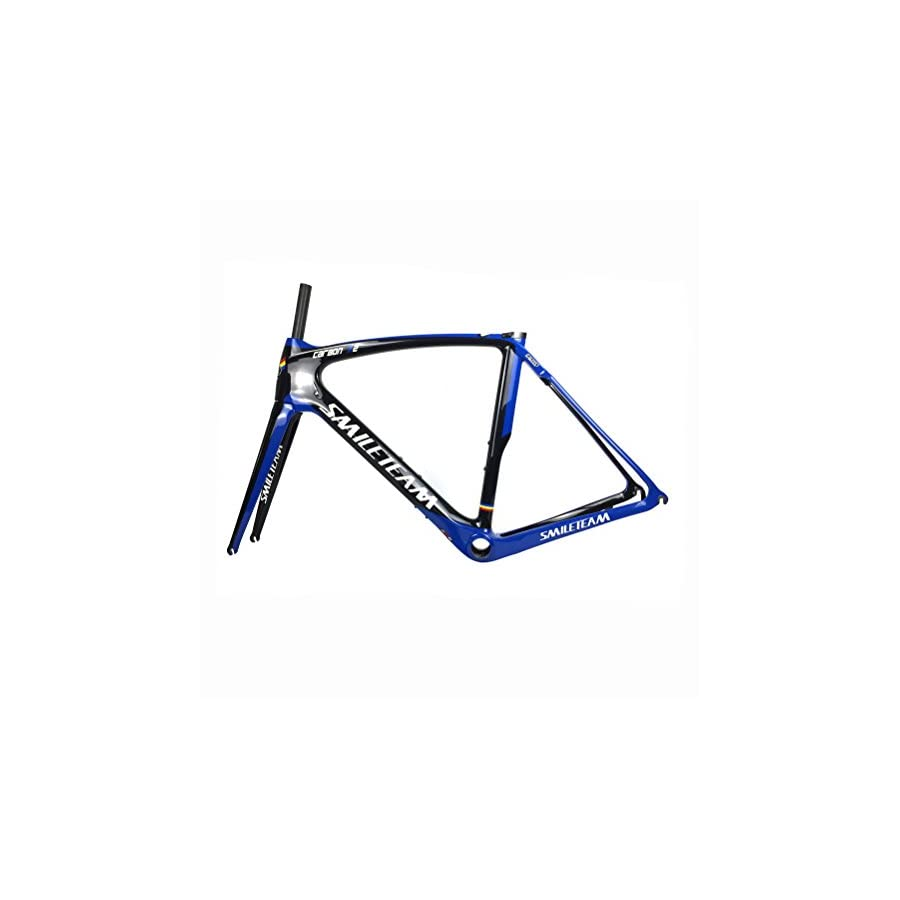 Smileteam T800 Full Carbon Road Bike Frame Carbon Racing Bike Road Bicycle Frameset With Fork + Seatpost + Clamp + BB386