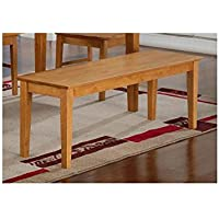 Wood Seat Bench in Oak Finish