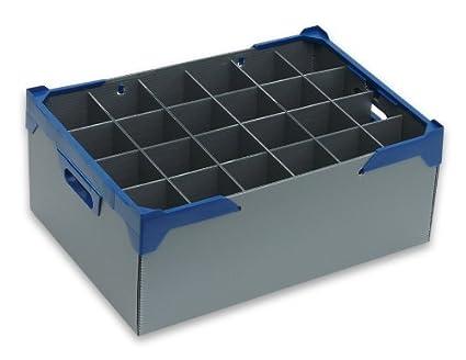 Tamaño mediano Copa de vino – cristalería caja de almacenaje – Glassjacks | 24 celdas |