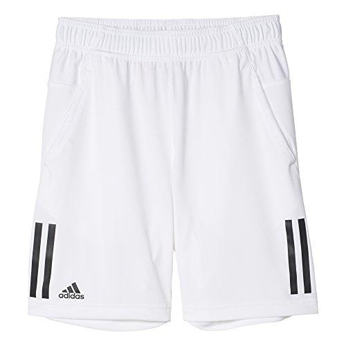 adidas Boys Tennis Club Shorts, White/Black, Small