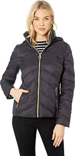 Michael Michael Kors Women's Zip Front Short Packable M823478GKA Black Medium]()