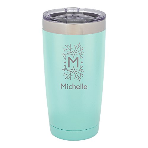 Froolu Drinking Thermos - Mint Personalized Laser Engraved Tumbler - Hydro Travel Cup Flask