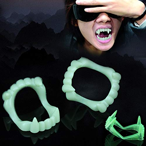 Devil Tooth Fangs Caps Zombie Vampire Luminous Dentures Halloween Party Props Wholesale - Party Diy -