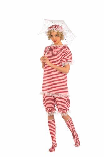Forum Novelties Women's Roaring 20's Beachside Betty Costume, Red, Medium (Roaring 20s Costumes Women)
