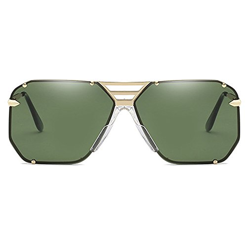 negro Driving marco hombres Retro Gafas sol Damas Demasiado grande estuche Eye Day Gafas Verde Boss Frame para hombres Vision de grandes Aviator de Vintage Wear para con Mujeres AnHvqn